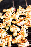 Carne da galinha na grade Fotos de Stock
