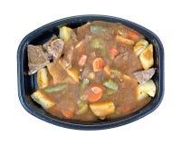 Carne de assado congelada e jantar de tevê dos vegetais Fotos de Stock Royalty Free