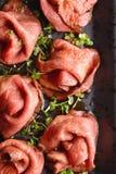 Carne de assado cortada Fotografia de Stock Royalty Free