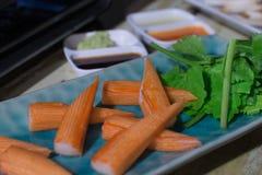 Carne de cangrejo de imitación Imagen de archivo libre de regalías