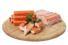 Carne de cangrejo de imitación Imagenes de archivo