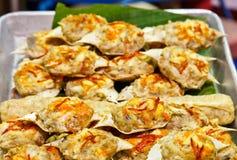 Carne de caranguejo cozinhada no seus próprias shell Fotografia de Stock