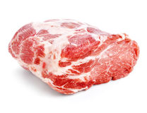Carne de carne de porco crua isoleted no branco Imagens de Stock Royalty Free