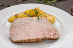 Carne de carne de porco Roasted do iberico fotos de stock
