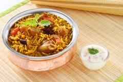 Carne de carneiro Briyani Imagens de Stock