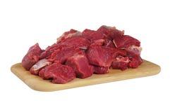 A carne de carneiro cortada Imagem de Stock