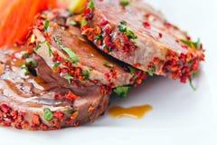 Carne de carneiro cozido Foto de Stock Royalty Free
