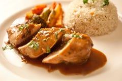 A carne de carneiro Tikka é prato indiano/paquistanês feito cozendo a carne de carneiro Fotos de Stock