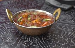 Carne de carneiro Vindaloo, carne de carneiro indiana tradicional Vindaloox do tikka do alimento Foto de Stock Royalty Free