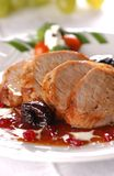 Carne de cerdo asada a la parilla Fotografía de archivo