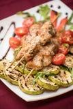 Carne de cerdo asada a la parrilla del kebab fotos de archivo libres de regalías