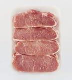 carne de cerdo sin procesar aislada en el fondo blanco foto de archivo