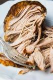 Carne de cerdo tajada hecha en casa Imagen de archivo libre de regalías