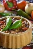 Carne de engodo de pimentões Fotografia de Stock