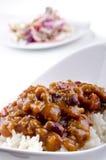 Carne de estafa de chiles con arroz Imagen de archivo