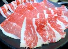 A carne de Hotpot rola o close up Imagens de Stock Royalty Free