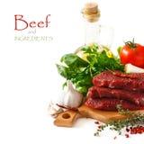 Carne de la carne de vaca. Fotos de archivo