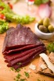 Carne de la carne de vaca secada Fotografía de archivo