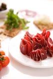 Carne de la carne de vaca secada Imágenes de archivo libres de regalías