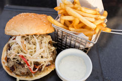 Carne de la hamburguesa Foto de archivo libre de regalías