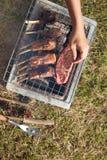Carne de la parrilla Fotos de archivo libres de regalías