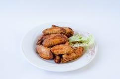 Carne de las alas de pollo Imagenes de archivo