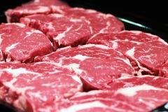 Carne de mármol de la carne de vaca foto de archivo