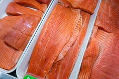Carne de pescados de color salmón Fotografía de archivo libre de regalías