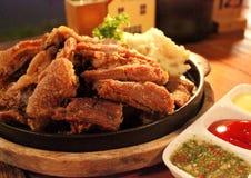 Carne de porco alemão fritada Imagens de Stock Royalty Free