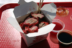 Carne de porco chinesa fresca da Barra-b-Que Imagens de Stock Royalty Free