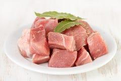 Carne de porco com folhas de louro Imagem de Stock