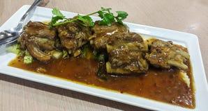 Carne de porco cozinhada picante Imagem de Stock