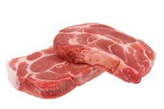 Carne de porco crua Imagens de Stock Royalty Free