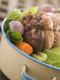 Carne de porco da barriga de Feu do au do potenciômetro Foto de Stock