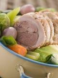 Carne de porco da barriga de Feu do au do potenciômetro cortada Fotos de Stock Royalty Free