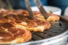 Carne de porco da grade de Coreia Imagens de Stock