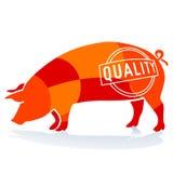 Carne de porco da qualidade ilustração do vetor