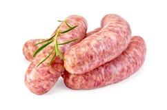 Carne de porco das salsichas com alecrins Fotos de Stock Royalty Free