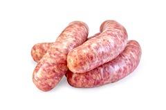 Carne de porco das salsichas crua imagem de stock royalty free