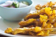 Carne de porco de Satay imagens de stock