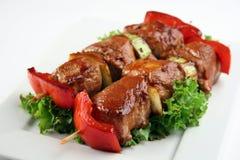 Carne de porco de Yakitori Imagens de Stock Royalty Free