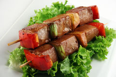 Carne de porco de Yakitori Foto de Stock Royalty Free