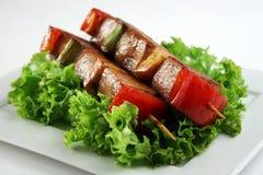 Carne de porco de Yakitori Imagens de Stock