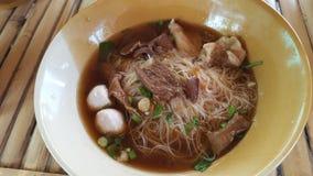 Carne de porco do macarronete do alimento Foto de Stock