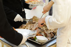 Carne de porco do serviço Imagem de Stock Royalty Free