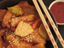 Carne de porco doce e ácida fotos de stock royalty free