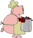 Carne de porco e feijões Imagens de Stock Royalty Free