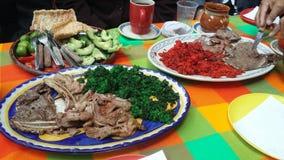 Carne de porco e carne mexicanas do alimento fotos de stock