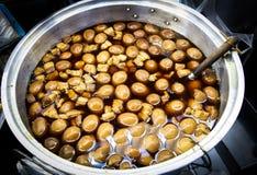 Carne de porco e ovo cozidos no molho Imagens de Stock Royalty Free