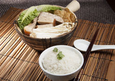 Carne de porco e sopa erval fotos de stock royalty free